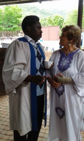 Mama Elreza with Pastor