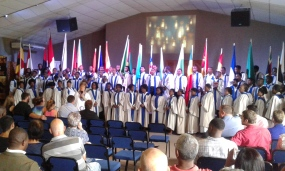 BBM Choir at local church in Barberton