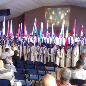 BBM Choir at local church in Barberton