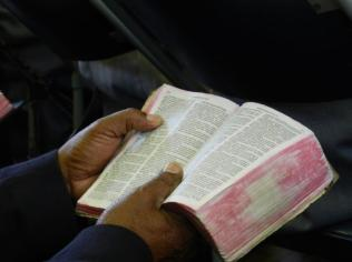Pastor with Bible