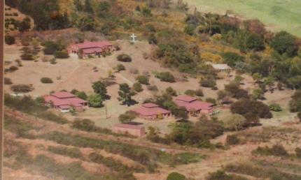 Areal view of BBM - Chapel and Student accommodation